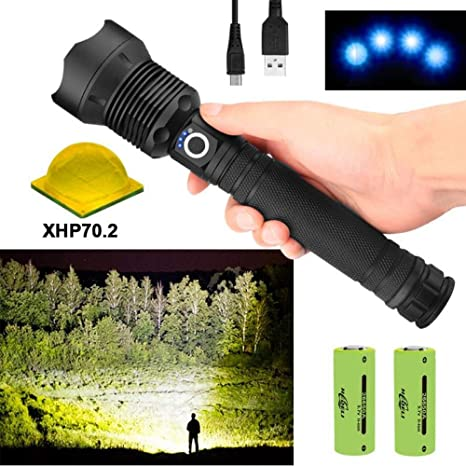 Tactical XHP50//XHP70 LED Flashlight Lamp Bright Torch Hunting Fishing Lamp ~~