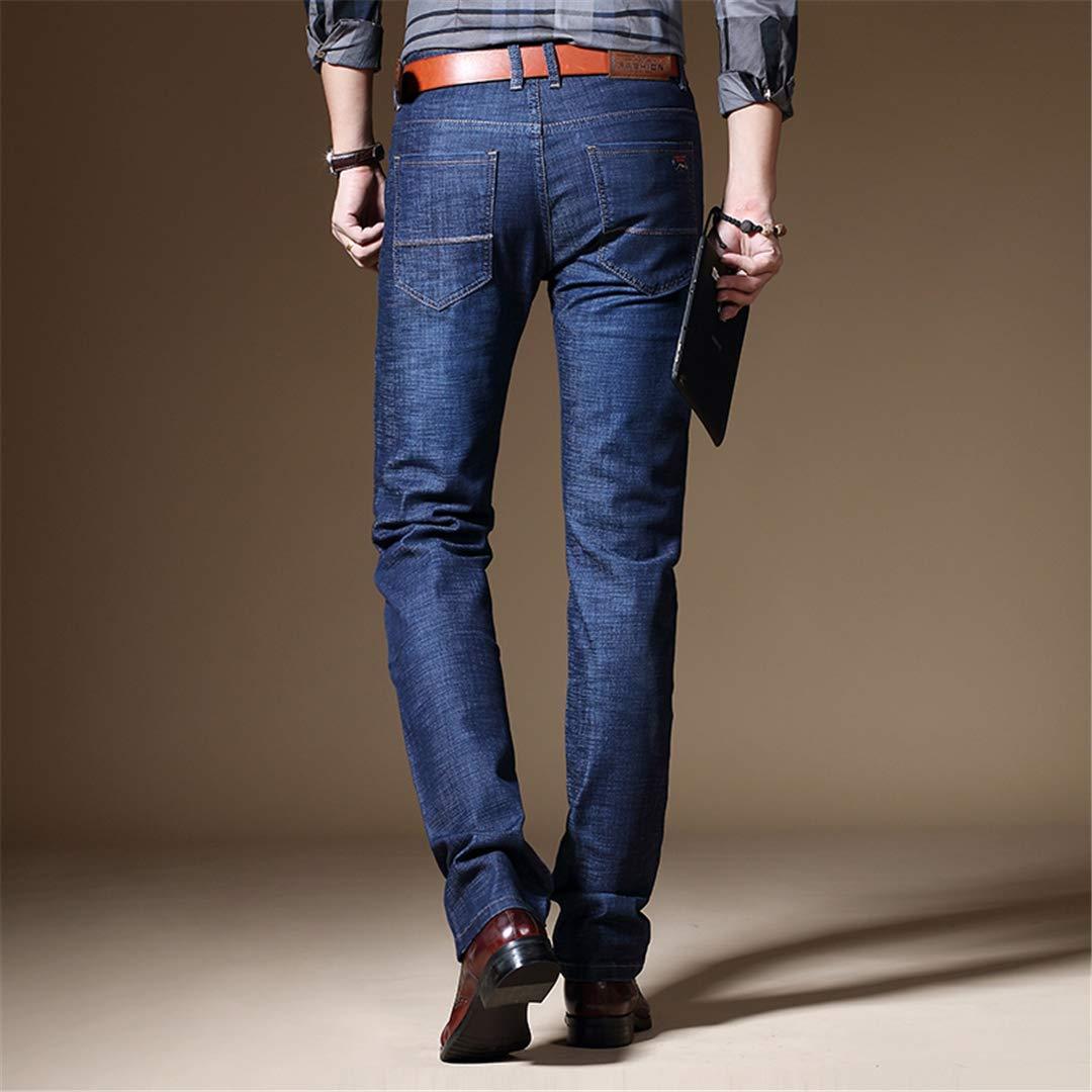 Mens Classic Business Jeans Casual Cotton Stretch Male Long Denim Pants Spring Autumn Regular Fit Jeans Men