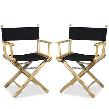 ArredaSì - Juego de 2 sillas Regista de Madera teñida ...