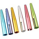 クツワ HiLiNE 鉛筆キャップ アルミ 6本入 6色 RB016