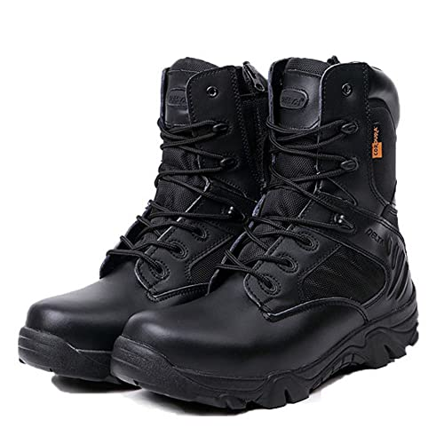 LiliChan Men s Tactical Boots Delta Side Zip Military Work 8 Inch Army  Shoes 3f8cbbaae5