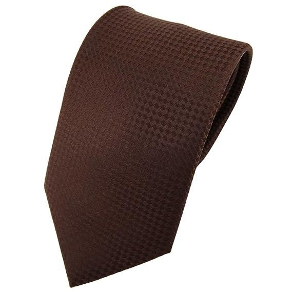 Diseñador corbata de seda - marrón marrón oscuro lunares Binder ...
