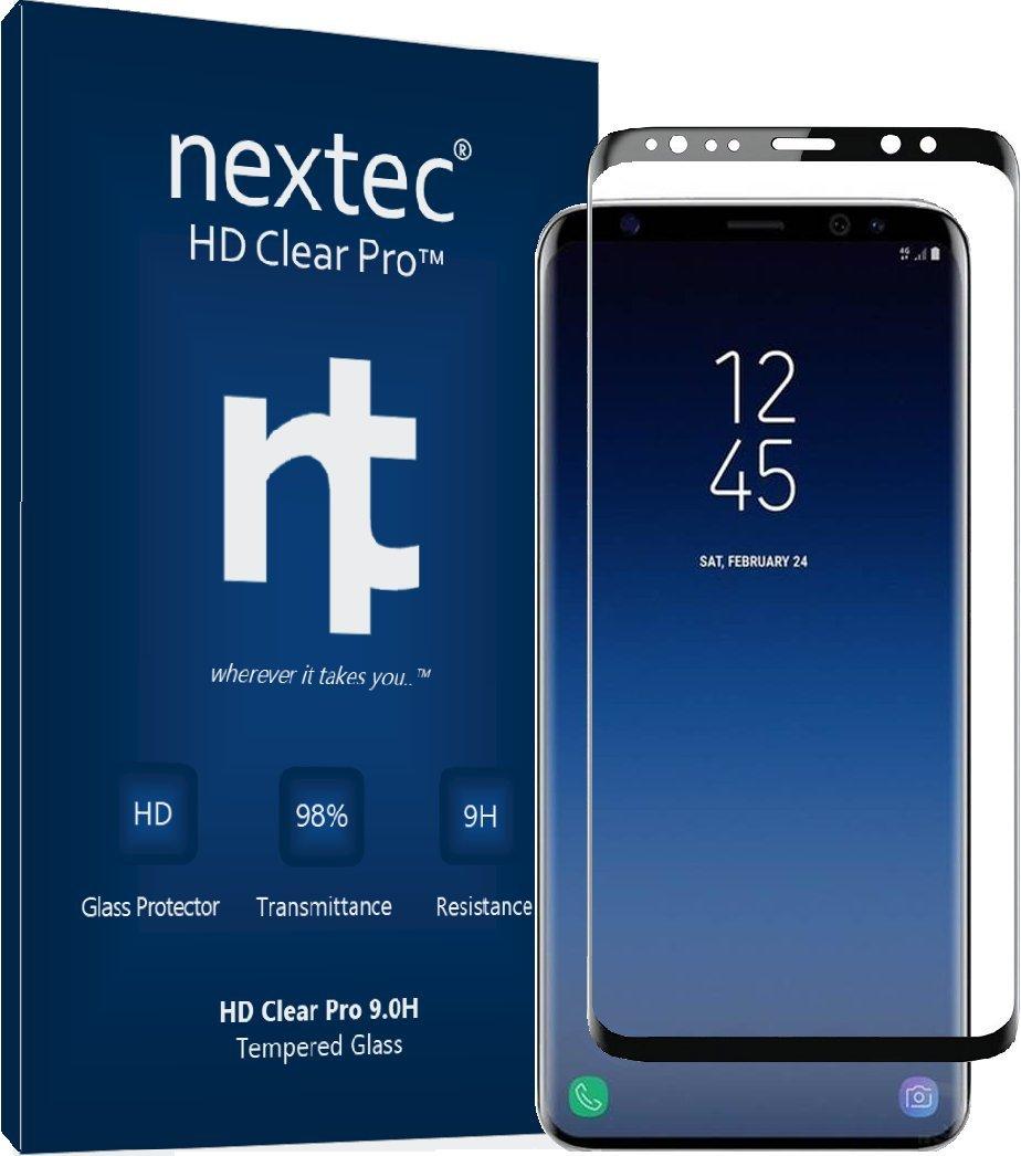 nextec Galaxy Note 8 Screen Protector, Samsung Galaxy Note 8 Glass Screen Protector (3D) Galaxy Note 8 Tempered Glass Screen Protector (HD Clear Pro 2.4) 9.0H/ Black - Corning Gorilla Glass by nextec (Image #1)