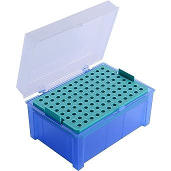Neolab 4 0075 - Caja vacía para puntas de pipeta, 96 puntos, 200 ...