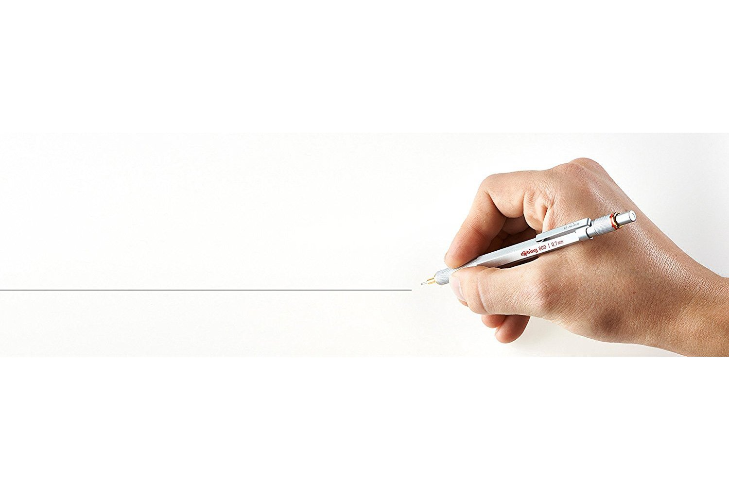 rOtring 1904448 800 Retractable Mechanical Pencil, Silver Bar, 0.7 mm, Silver Barrel by Rotring (Image #7)