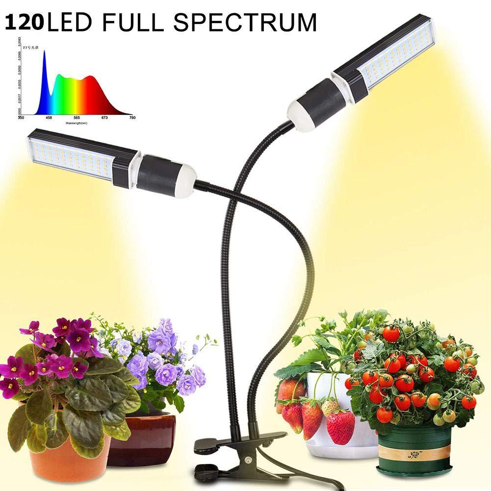 Starneaby Pflanzenlampe,Doppelkopf Pflanzenlicht,50W 120LED Wachstumslampe 360Grad /Überwinterung Pflanzen Lampe,Grow Light