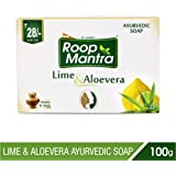Roop Mantra Lime and Aloevera Ayurvedic Bath Soap, 100g (Pack of 4)