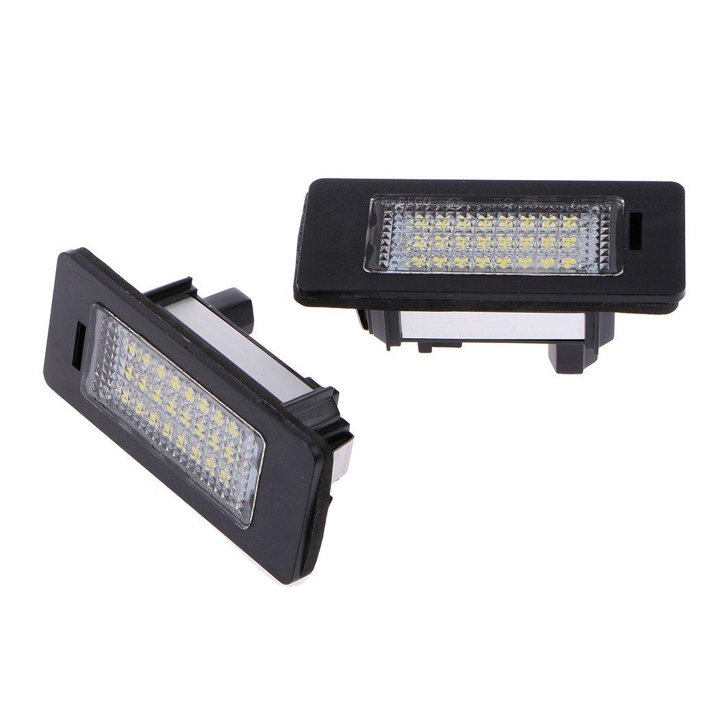 24 Paires Lampe LED De Lumi/ère De Plaque D/'immatriculation