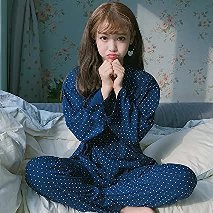 Syksdy La Mujer Cute Pijamas De Algodón Establece Nuevos Verano Otoño Casual Pijama De Manga Larga