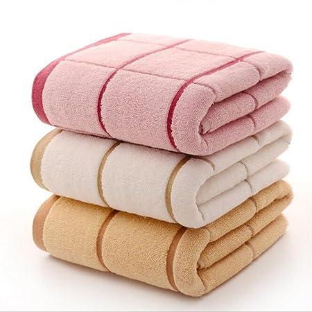 saiyi rosa amarillo y beige toalla de baño (Entramado algodón suave absorción de agua toalla de baño Hotel Hombres y Mujeres Pareja y los niños traje de ...