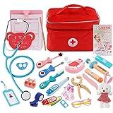 おままごとセットテ お医者さん 医者のロールプレイ 木製 子供教育おもちゃ ごっこ遊び 知育玩具 子供用 おもちゃ 誕生日 クリスマス プレゼント 入園祝い 3歳以上の女の子 男の子