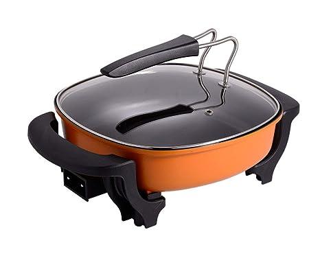 Po Eléctrica Caliente, Eléctrica Hot Pot Multifuncional Plaza Cubeta De Cocina Wok Antiadherente Pan Barbacoa