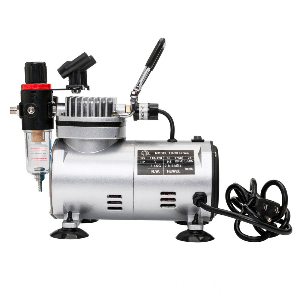 TC-20BK 110V Air Compressor with Air Brush Kit CoolClassic
