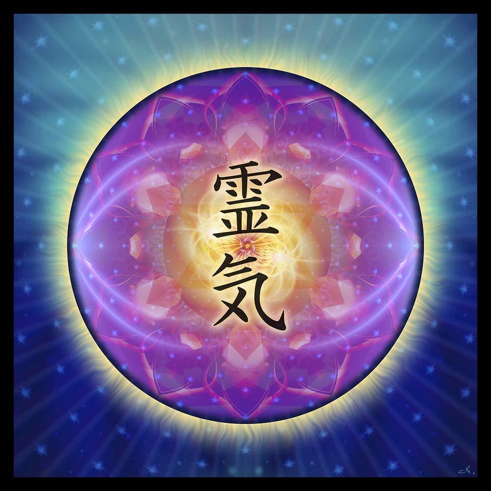 Reiki Energy Healing Mandala Tapestry Wall Hanging Mindfulness Gift Meditation Yoga Spiritual Visionary Art Reiki Handmade