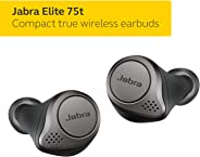 Jabra Elite 75t Earbuds – Alexa Enabled, True Wireless Earbuds with Charging Case, Titanium Black – Bluetooth Earbuds with a