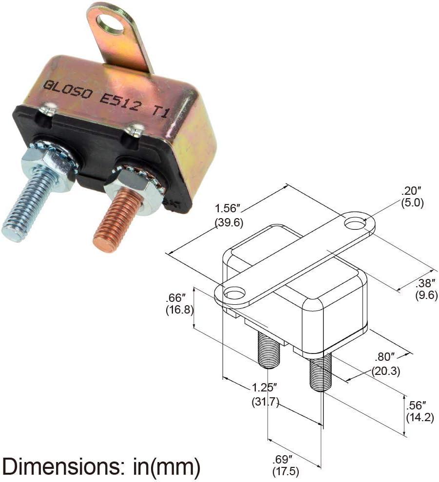 - 1 Pack Crosswise Bracket 30A T1 GLOSO E512 Stud Type Circuit Breakers Auto Reset