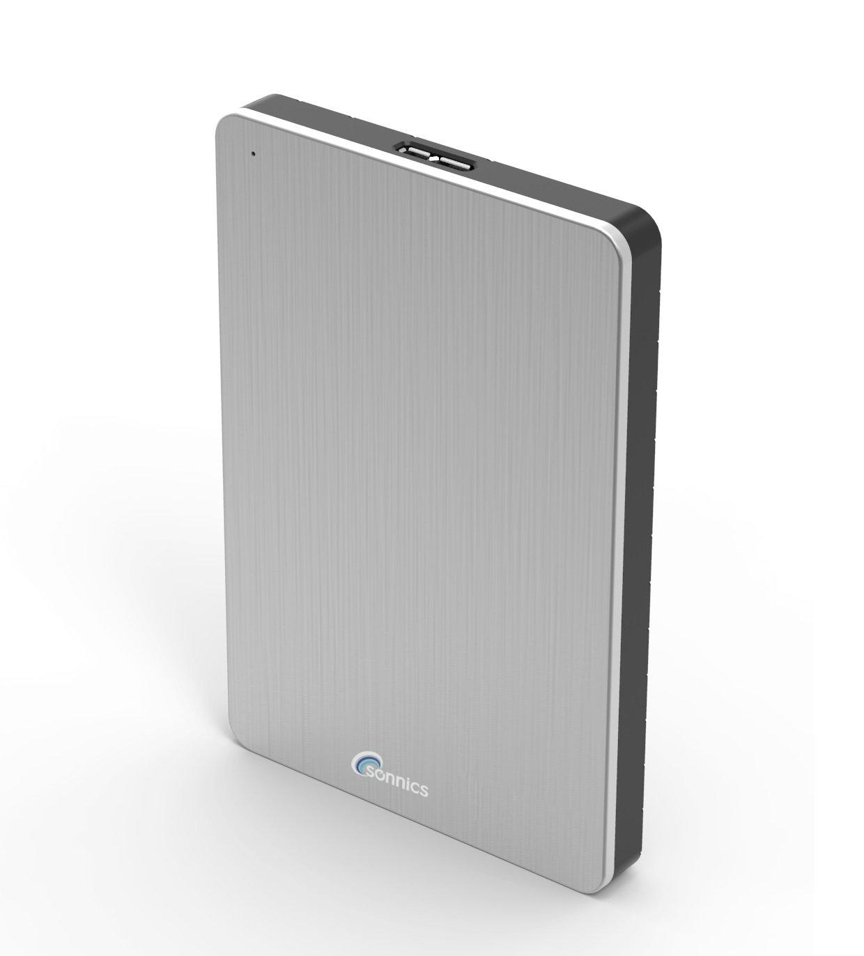 Sonnics 250GB Plata Disco duro externo port/átil USB 3.0 de alta velocidad de transferencia para uso con Windows PC Apple Mac y XBOX 360