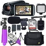 Canon VIXIA HF R800 Camcorder & Sandisk 32 GB SD Memory Card + Video Accessory Bundle