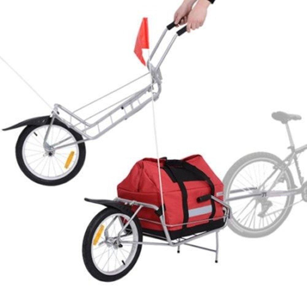 Bicycle Cargo Trailer Stroller Carrier Storage Bag Wheel 2 in 1