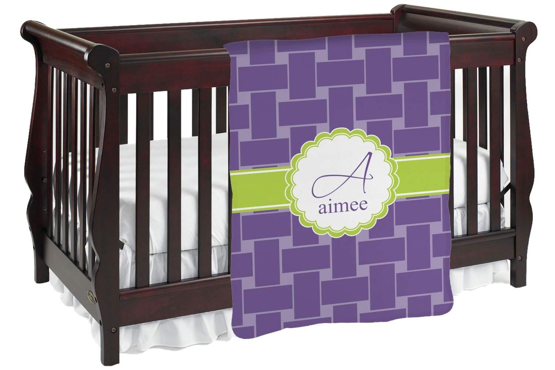 ワッフル織りベビーブランケット( Personalized ) Baby Blanket パープル mi-baby-blanket-fb+224747 両面  B01KIOPSEA