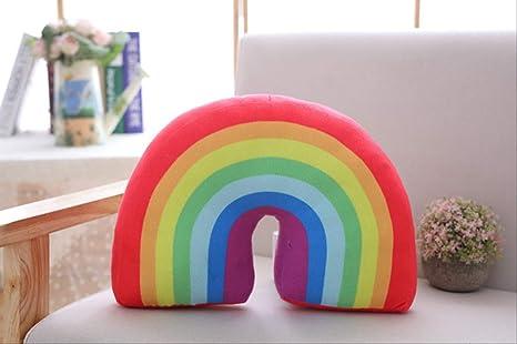 hokkk Rainbow Plush Pillow Baby Toys súper Suave Decorativo ...