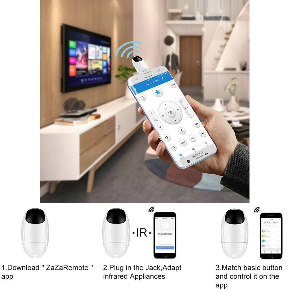 IR Remote Controller Adapt for iPhone,Android,Type-C,for Air  Conditioner/Fan/TV and more, IR Remote Control Smart Phone Adaptet by  Warmword (for