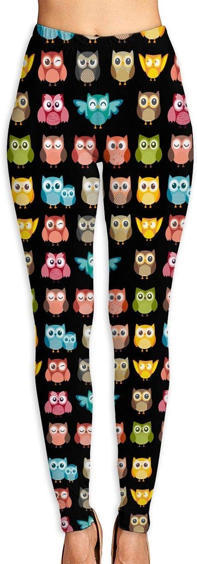 Miedhki Cute Owl Funny Owl Pattern Pantalones deportivos ...