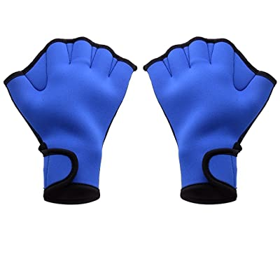 Kimberleystore Excellent variétés en néoprène bleu palmés Gants de natation Gants d'entraînement (Taille: M)