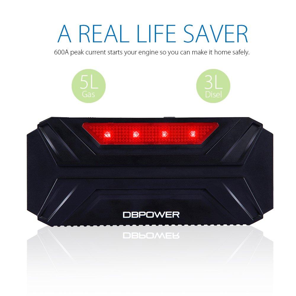 DBPOWER 8000mAh 300A Jump Starter Avviatore di Emergenza per Auto