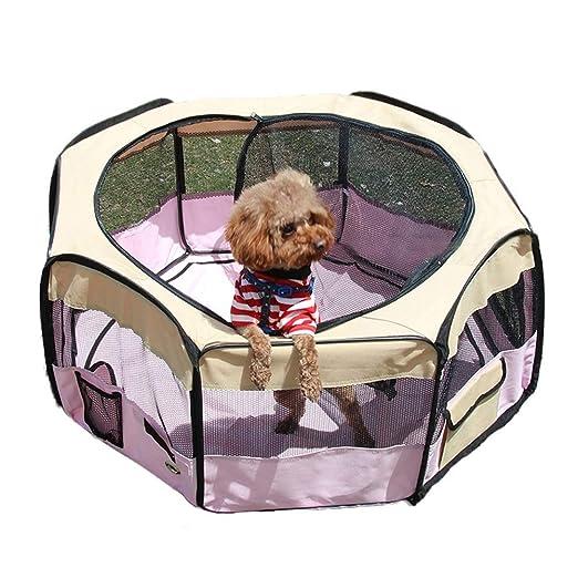 Perro de Mascota Jaula Parque Infantil Valla, portátil DIY Yarda ...