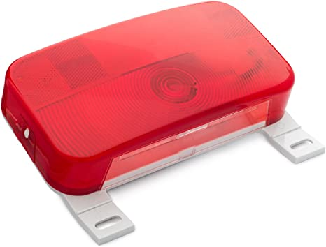 Tail Light White Base Stop Lumitronics Red Surface Mount Tail Light with License Bracket and License Light For Safe Driving At All Hours Turn