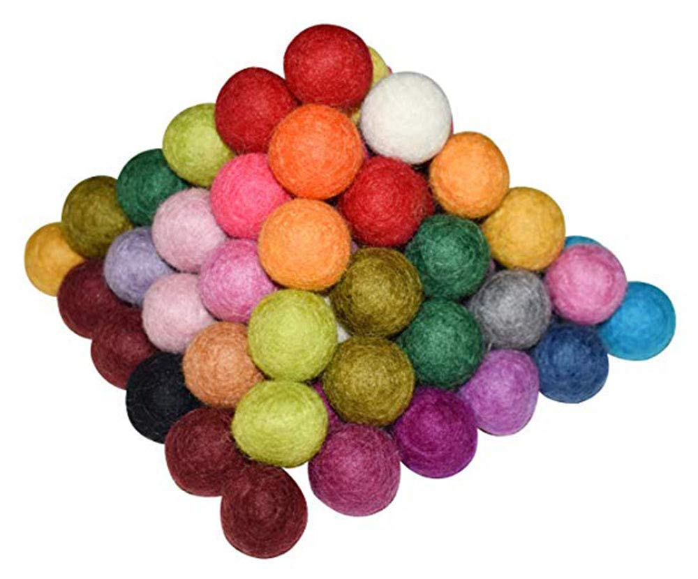 Etgu Handmade Wool Felt Ball,100 PCS 100% Wool Felt Ball 20mm/25mm/30mm/50mm (50mm/2in)