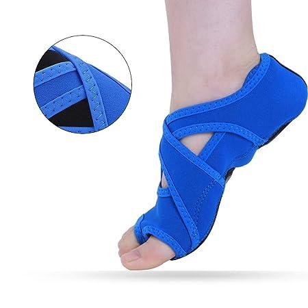 Tbest Yoga Socken Damen Anti Rutsch Yoga Schuhe Yoga Wrap Schuhe