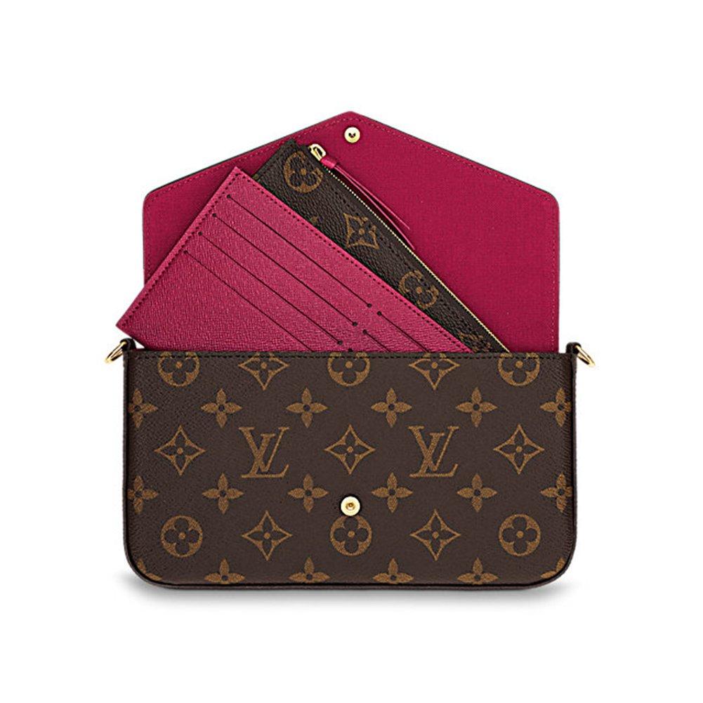 Louis Vuitton Monogram Canvas Felicie Chain Wallet M61276 at Amazon Womens Clothing store: