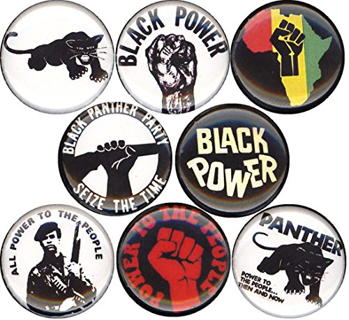 """BLACK PANTHER PARTY #2 8 NEW 1 Inch (25mm) Set of 8 Pinback Buttons Badges Pins 1"""""""