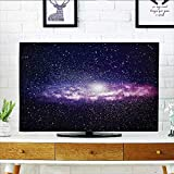 Auraisehome Protect Your TV Nebula Cloud in Milky Way Infinity in Interstellar Solar Explosion Design Purple Dark Protect Your TV W25 x H45 INCH/TV 47''-50''