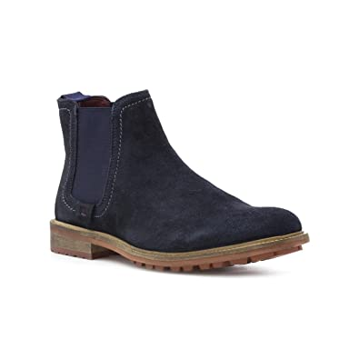 6fd6db56845c Silver Street Mens Navy Suede Chelsea Boot  Amazon.co.uk  Shoes   Bags