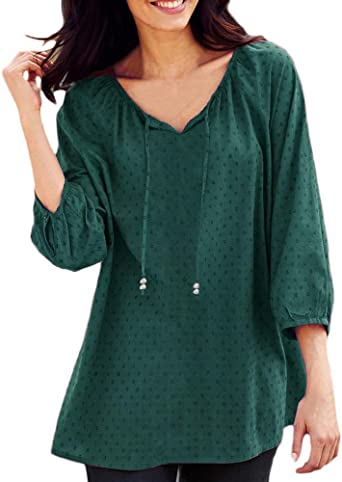 Camisetas Basicas Mujer Ronamick Comfort Blusa Transparente Tops Mujer Lentejuelas Comfort Camisa Blanca Niña (Verde,XL): Amazon.es: Bricolaje y herramientas
