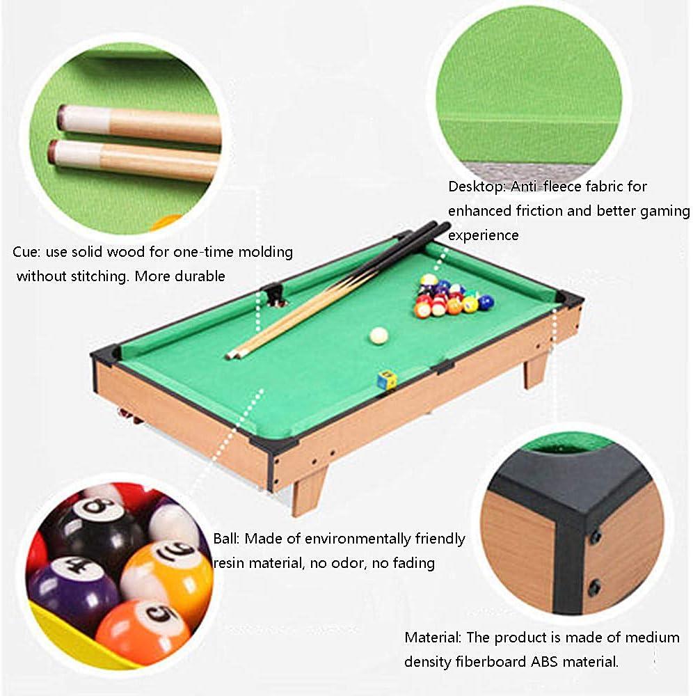 Mitrc Juegos de Mesa, Mini Mesa de Billar Conjunto con triángulo, Bolas, Cues, Tiza y Pincel: Amazon.es: Deportes y aire libre
