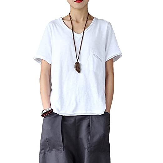 Aeneontrue Womens Short Sleeve V Neck T Shirts 100 Bamboo Cotton