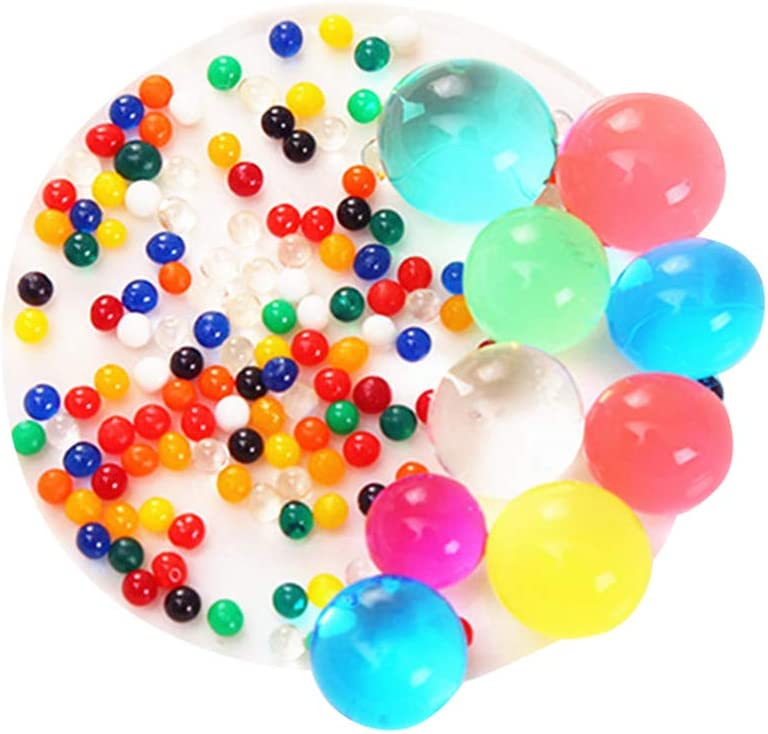 Hongma 10 Bags Crystal Soil Water Beads Mud Grow Balls for Plants Soilless Hydroponic Decoration