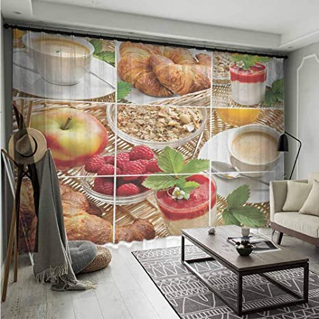 Amazon.com: Bluemat - Cortinas transparentes multicolores ...
