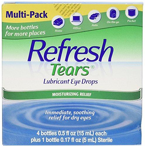 Refresh Tears Eye Drop Lubricant 4 x 15ml Bottles + 1 Bonus