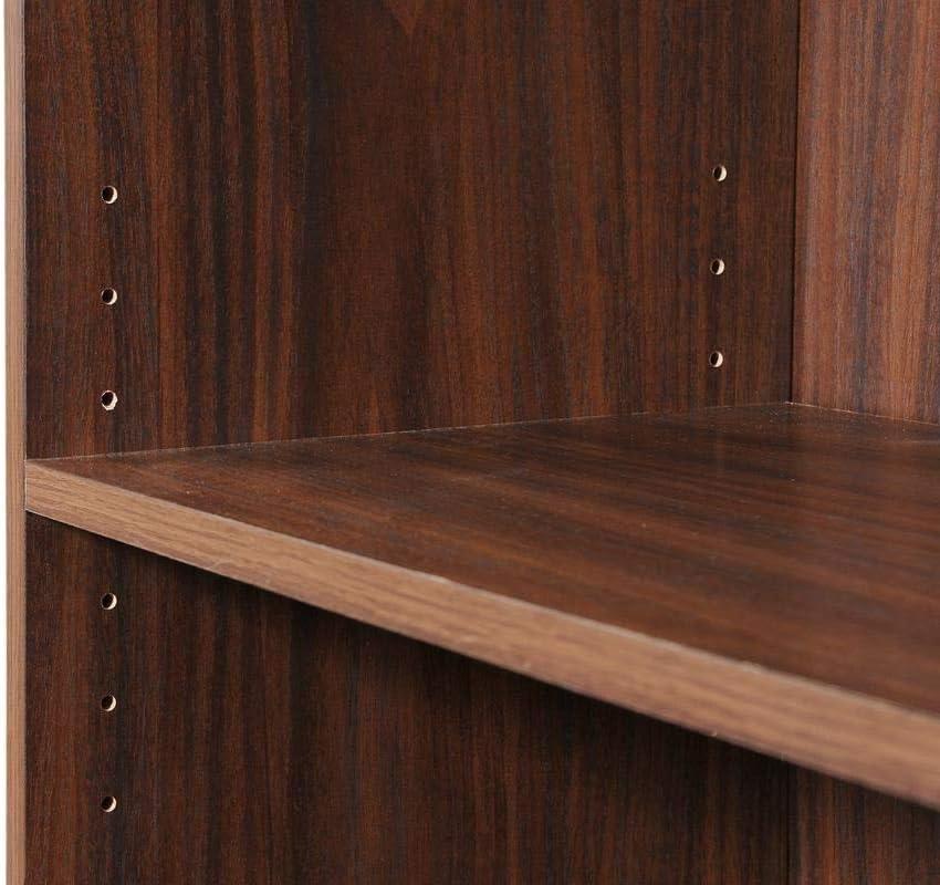 Timber Art Design 3 Tier Cube Bookcase Display Shelving Storage Unit Wood Furniture Walnut