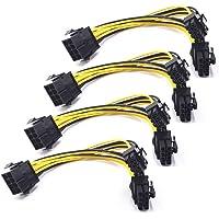 8 Pines PCI Express a 2 X PCIe 8 (6 + 2) Pines y 6 Pines Motherboard Tarjeta gráfica de Video PCI-e GPU VGA Y-Splitter…