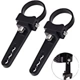 "Auto Power Plus 1.75"" Bull Bar Tube Mount Clamps Universal Mounting Brackets Holder Kits for Led Hid Light Bar Jeep Wrangler Trucks off-road, 2pcs"
