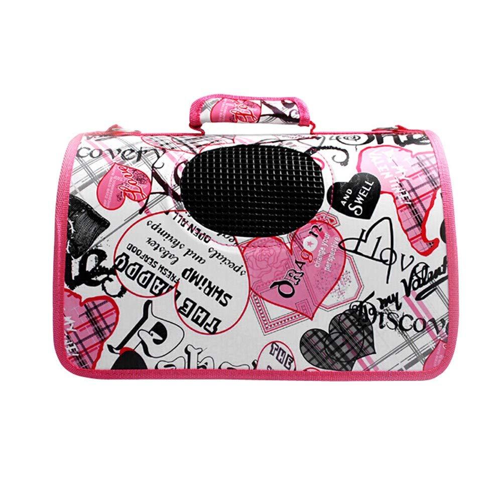 M Pet Bag Cat Bag Dog Backpack Teddy Out Supplies Breathable Collapsible Cat Bag Dog Bag Portable Cage Shoulder Bag Travel Bag Box Supplies, M