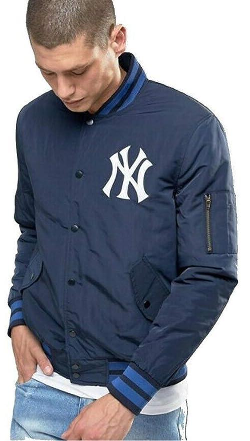 Majestic New York Yankees MLB Bomber - Chaqueta Azul Azul ...