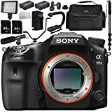 Sony Alpha A99 II ILCA99M2 A99II DSLR Camera (Body Only) 13PC Kit - Includes 64GB SD Memory Card + 2 Replacement Batteries + Carrying Case + Monopod + MORE - International Version (No Warranty)