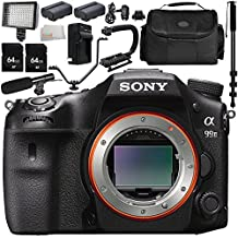 Sony Alpha A99 II DSLR Camera (Body Only) 13PC Kit - Includes 64GB SD Memory Card + 2 Replacement Batteries + Carrying Case + Monopod + MORE - International Version (No Warranty)